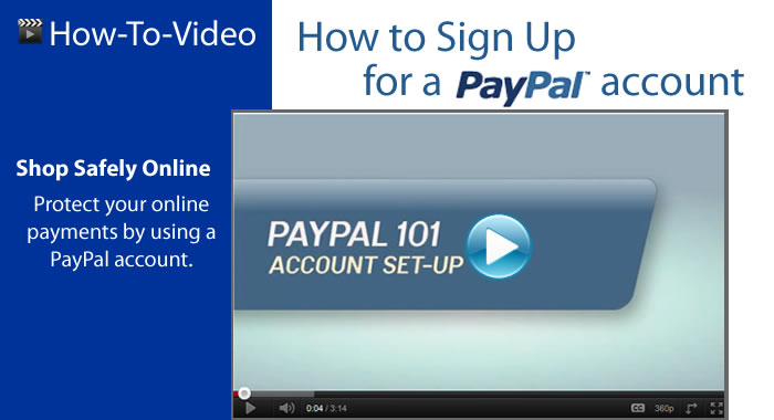 How to sign up for a PayPal Account